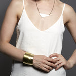 Geometric Triangle necklace with Alexandra Bangle