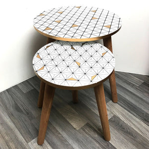 geometric side tables
