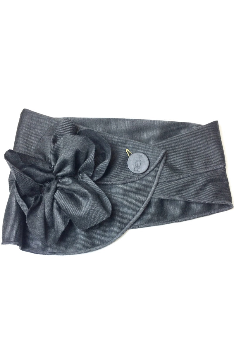 stylish charcoal grey scarf
