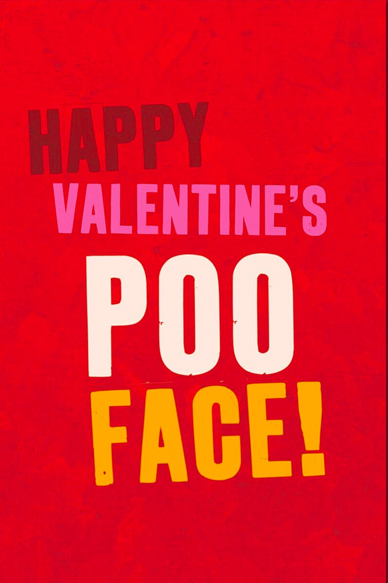Happy Valentines Poo Face Card