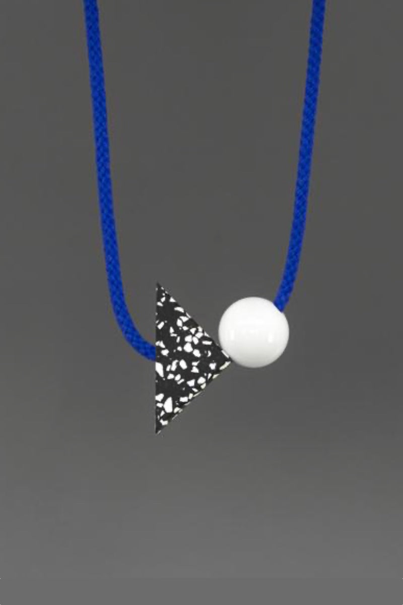 Ilya - Bright Blue Geometric Rope Necklace