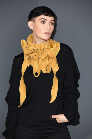 Ellie - Gold Mustard Collar Scarf