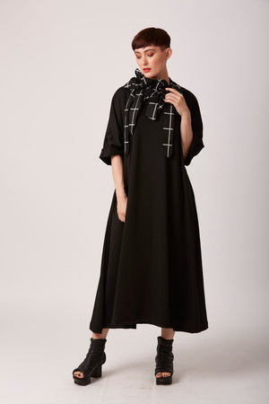 Rew mid length black casual dress