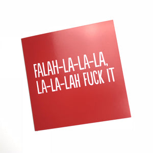 red funny Christmas card