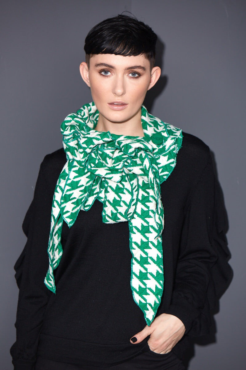 green unusual scarf