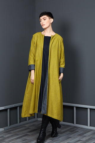Denim Duster with mustard inner.