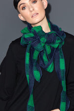 unusual winter scarf green