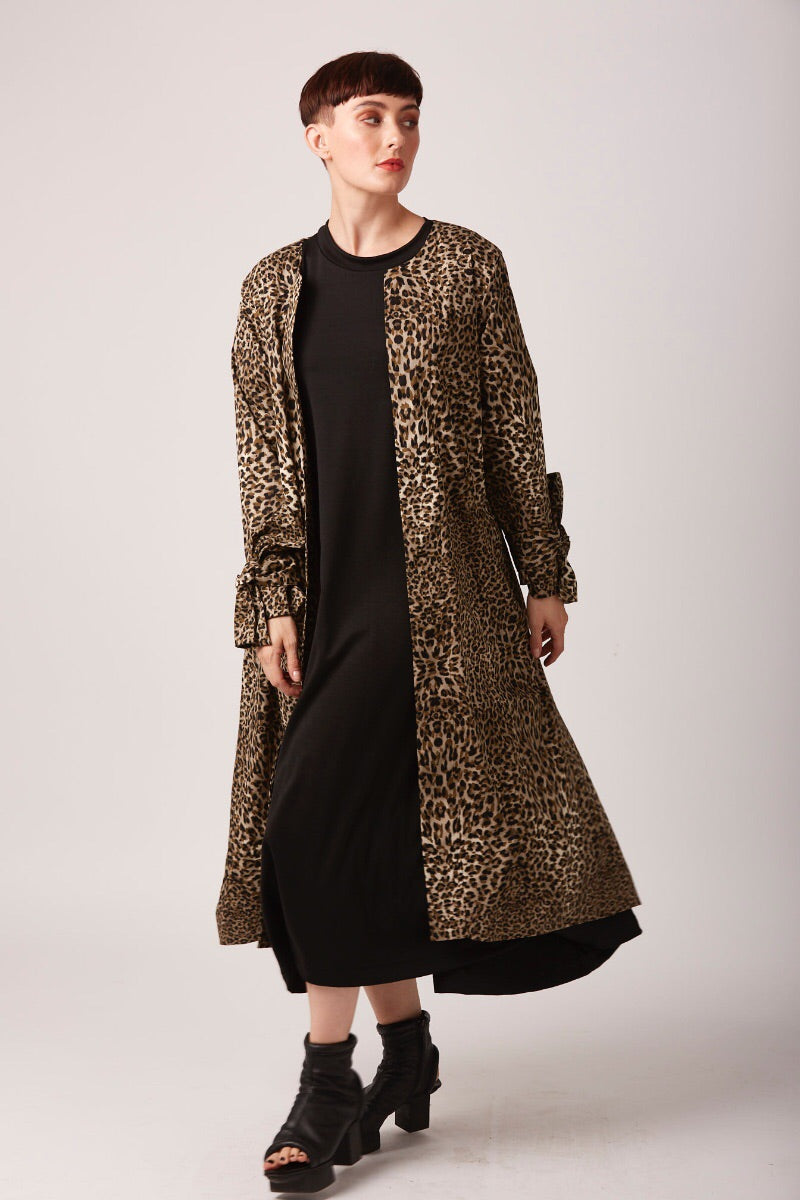Leopard Duster Coat