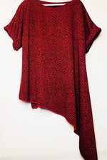 red leopard rew clothing top