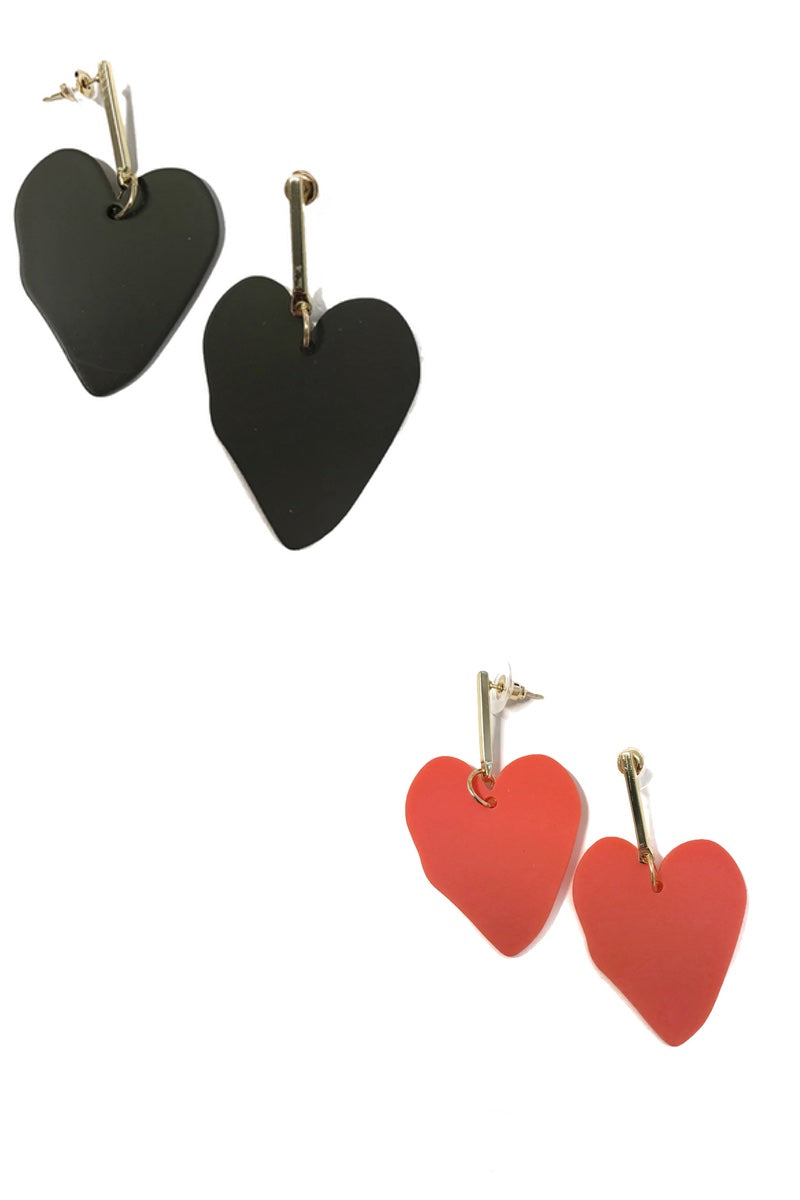 unusual perspex heart earrings for mothers day