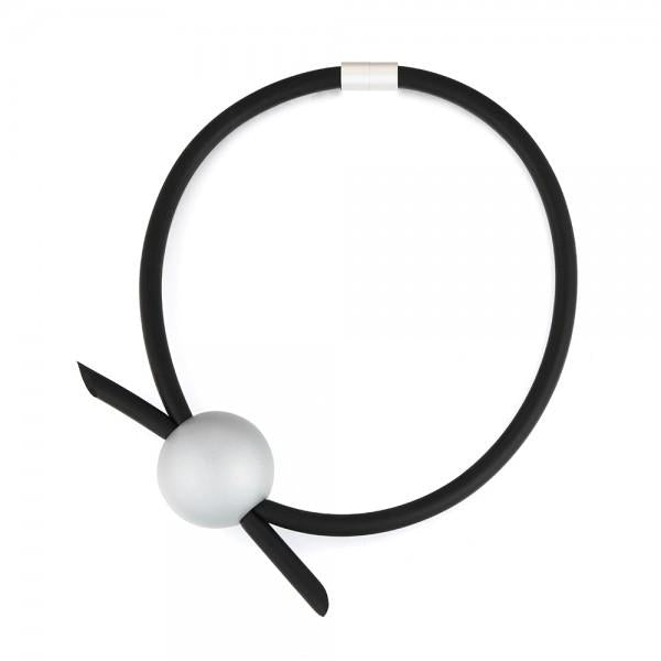Nova - Short Orb Rubber Necklace