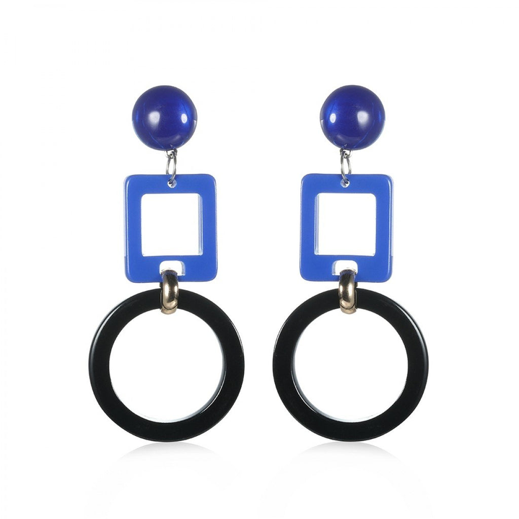Ginny - Blue Statement Drop Earrings