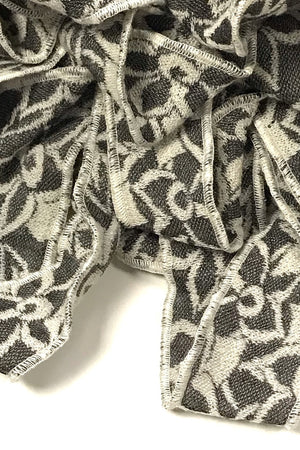 Jude- Lace Floral Virgin Wool Scarf