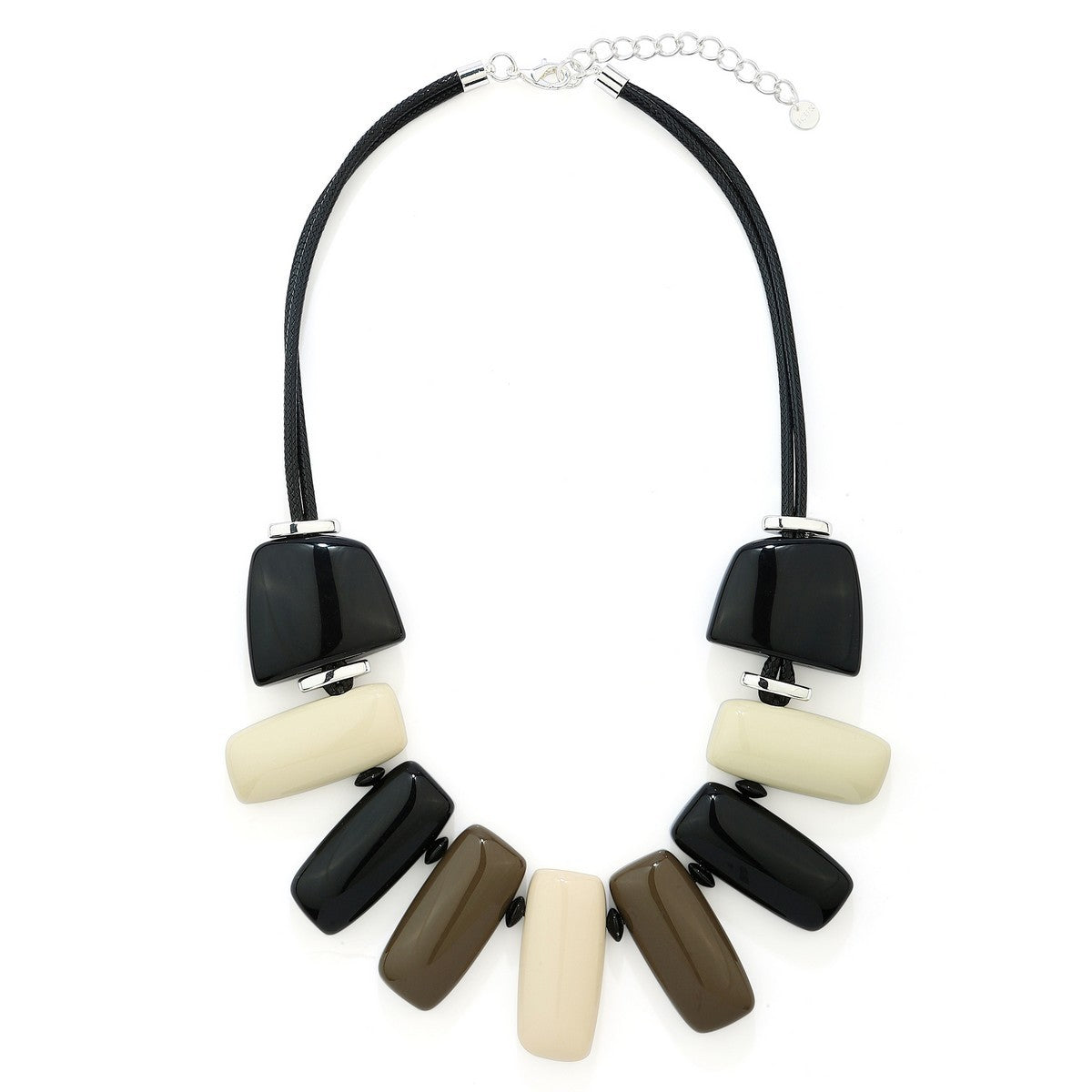 Quirky Short Statement Necklace In Khaki REW Clothing Accessories