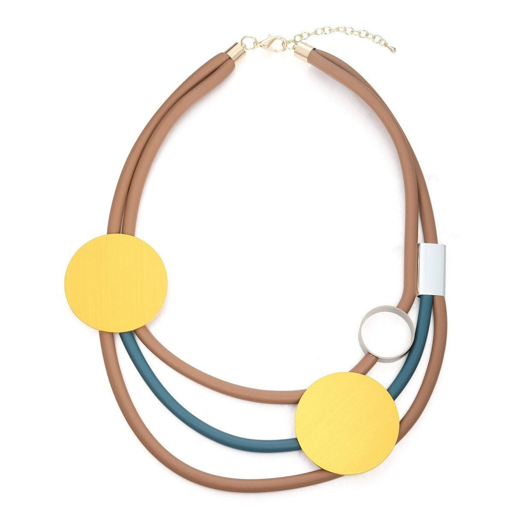 Claire - Short Rubber Layer Necklace