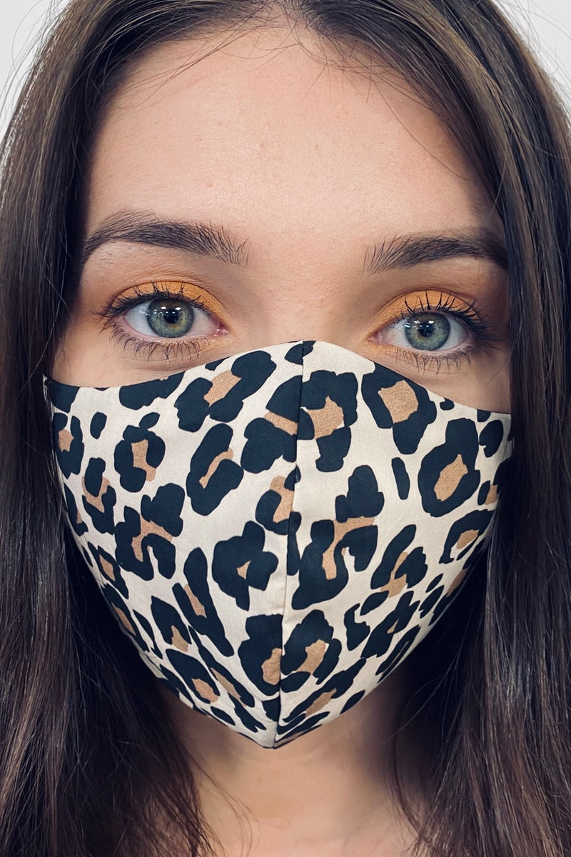 leopard print face mask made in uk