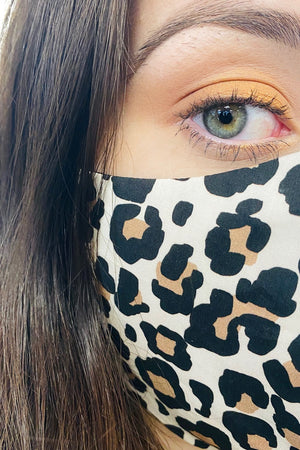 stay safe in leopard print face covering