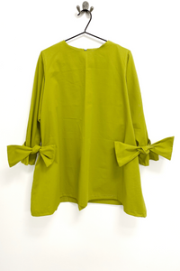 lime green flared aline tunic