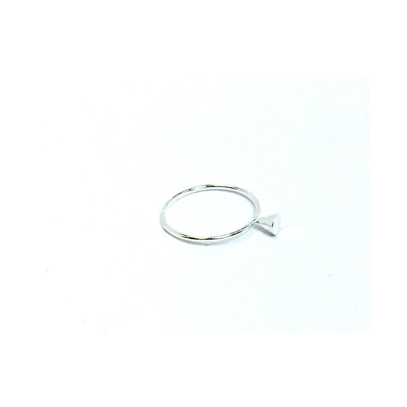silver cone stackable ring