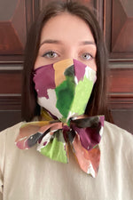 MAScarf - Bright Water colour Print Mask - Scarf