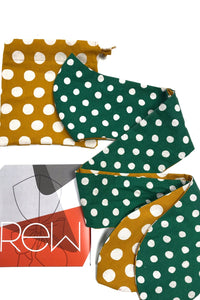 MAScarf - Yellow/Green Polka