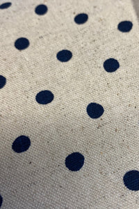 MAScarf - Cream Navy Polka