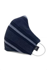 Navy Pinstriped Face Mask Unisex