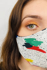 Paint splatter british mask 3 ply