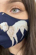 cotton dog print face mask covid19