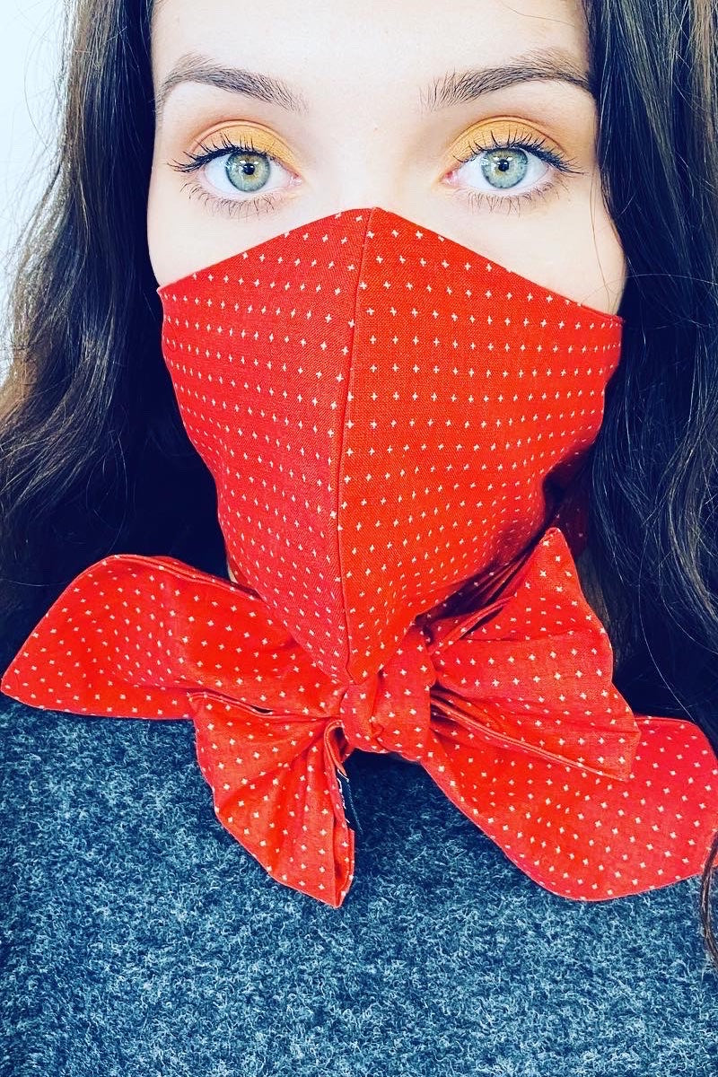 BRIGHT RED MASCARF MASK FACE COVER