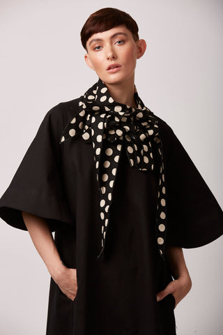 Ditty - Polka Dot Black and Cream Scarf