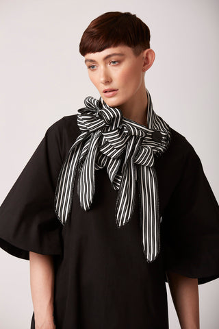 Natty- Unusual striped collar scarf