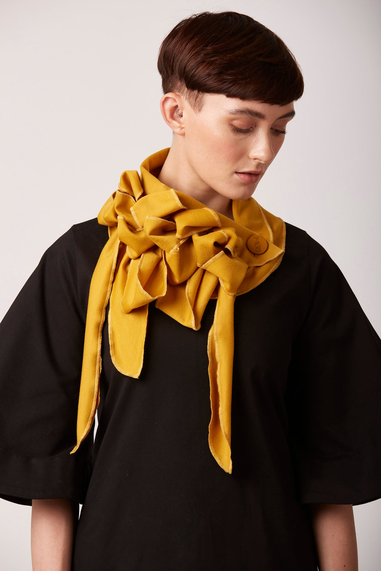 Mustard summer scarf unusual rew clothing