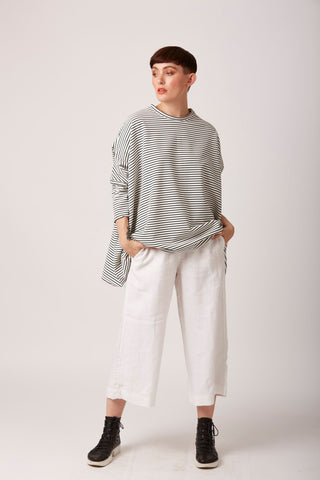 Iona Indie - White/Black Striped Breton Sweater