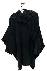 Ribbed Runch Neck Jumper - Black