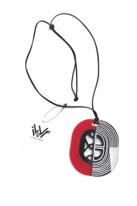 Roxanne - Red And Black Long Pendant Necklace