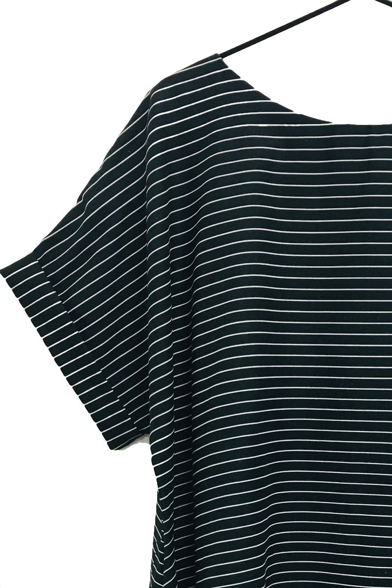 Polly - Striped Navy & White loose fit top