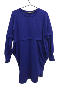 bright blue textured tunic dress