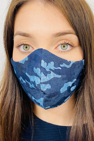 3 PLY UNISEX camouflaged FACE MASKS