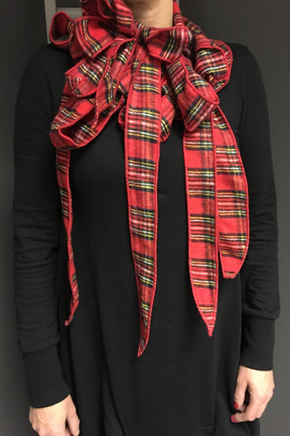 Tartan Red Luxury scarf