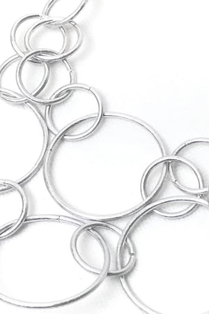 unusual silver circle necklace