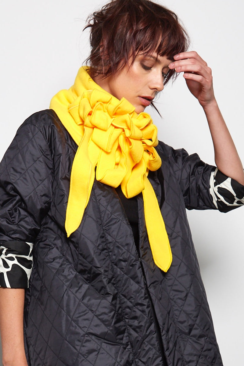 bright yellow scarf rew clothing