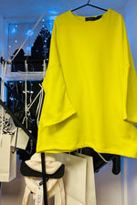 bright yellow lounge wear sustainable