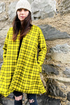bright yellow checked coat