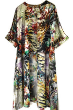 tropical printed summer dress