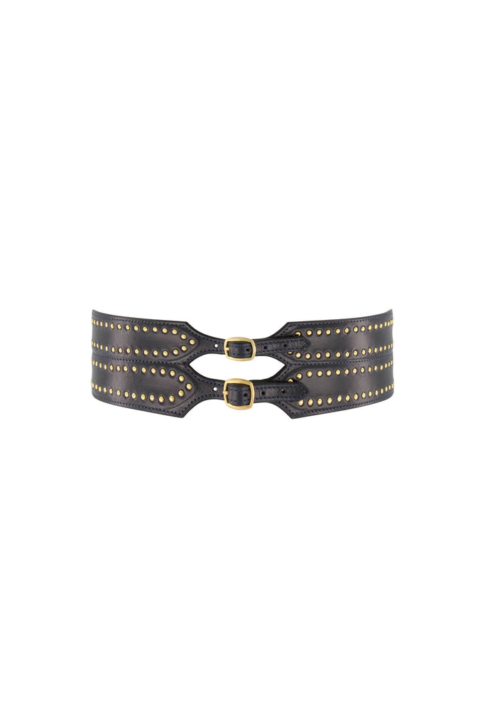 Luna Waist Belt - Navy/Gold