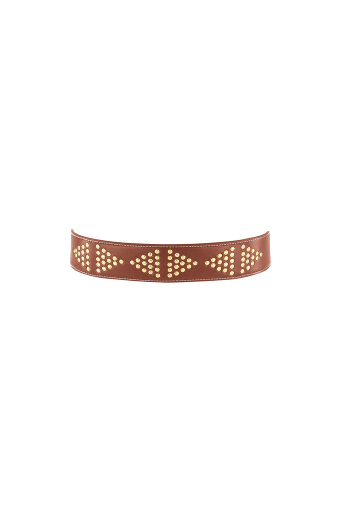 Pyramid Belt - Vintage Tan/Gold