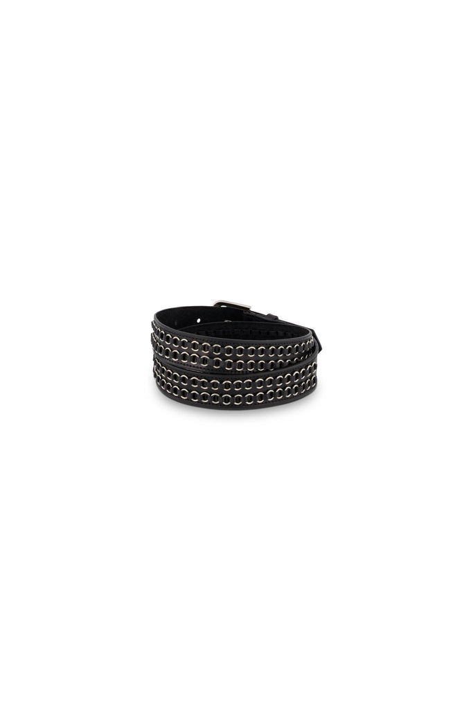 Double Ring Belt - Black/Silver