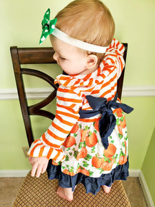 Striped Pumpkin Dress
