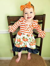 Load image into Gallery viewer, Striped Pumpkin Dress